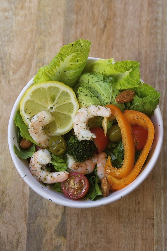 Lemon Dill Shrimp Salad - The Fed Up Foodie