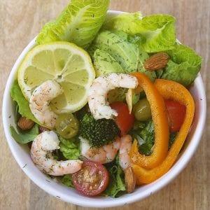 Lemon Dill Shrimp Salad