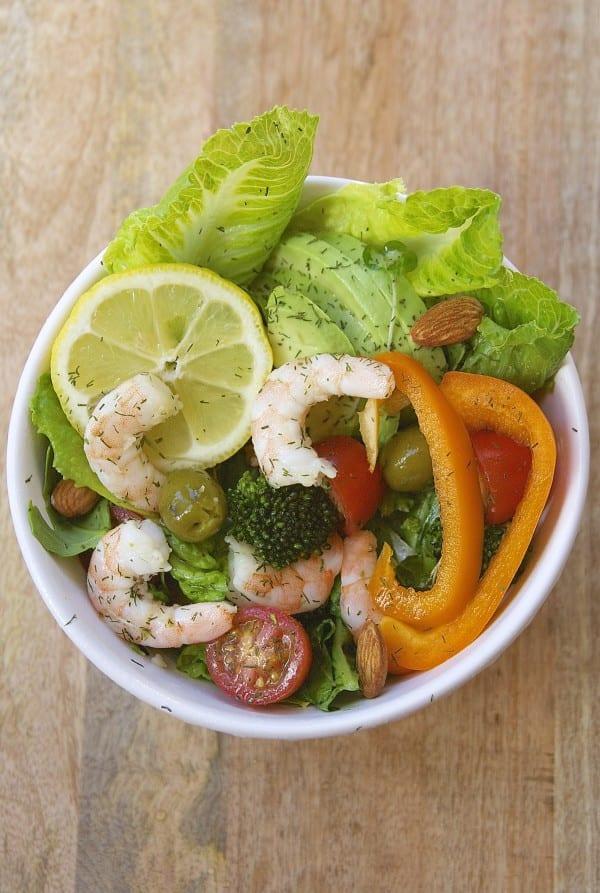 Lemon Dill Shrimp Salad- simple ingredients, full of nutrition- thefedupfoodie.com