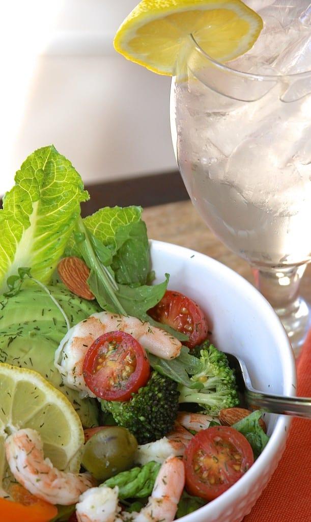 Lemon Dill Shrimp Salad - simple ingredients, full of nutrition- thefedupfoodie.com