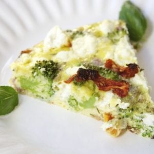 Bacon Goat Cheese Frittata-perfect make ahead breakfast, full of flavor- thefedupfoodie.com