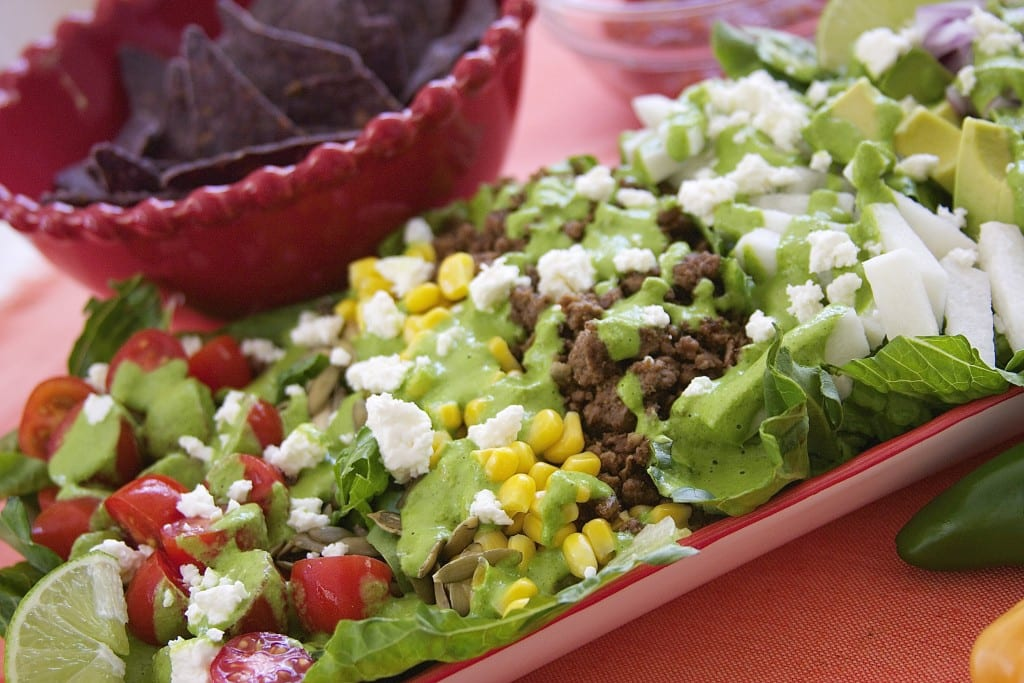 Flavor Explosion Mexican Salad- perfect for busy days- thefedupfoodie.com