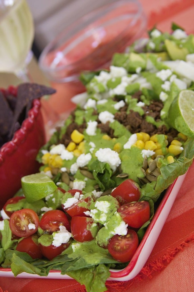 Flavor Explosion Mexican Salad 1- perfect for busy days- thefedupfoodie.com