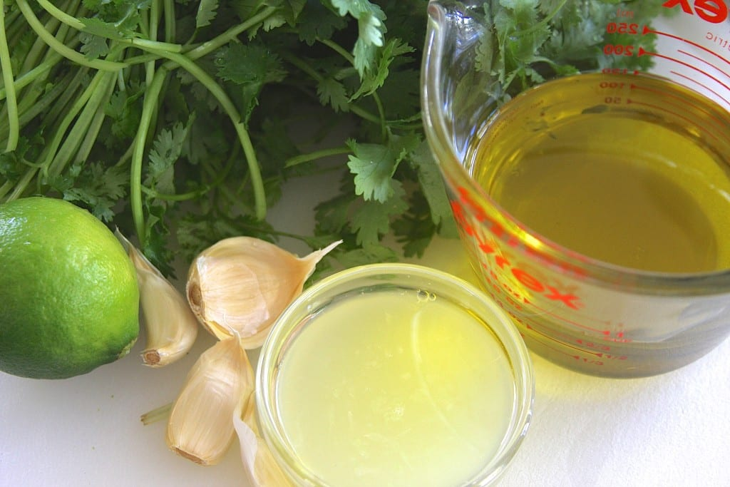 ingredients for Cilantro Lime Salad Dressing