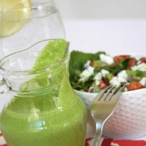 Cilantro Lime Salad Dressing recipe explodes with flavors of cilantro and lime. This tastes so good drizzled on salads and sprinkled with peppitas. Little ones will gobble up their veggies when dipped into this dressing.