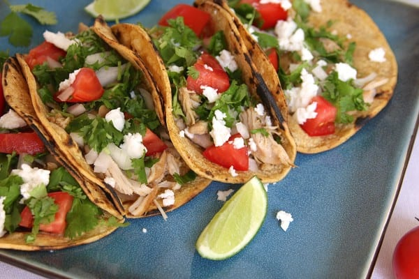 Crockpot Shredded Chicken Tacos