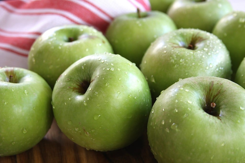Green apples for Green Apple Crisp