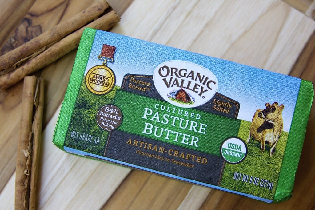 Grass fed butter for Green Apple Crisp