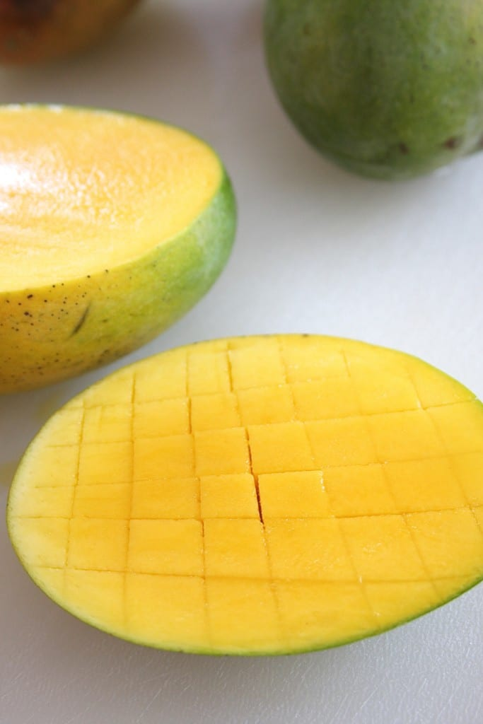 Cutting Mango for Fresh Mango Pineapple Salsa 2
