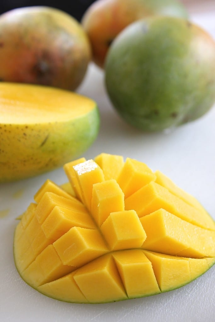 Cutting Mango for Fresh Mango Pineapple Salsa 3