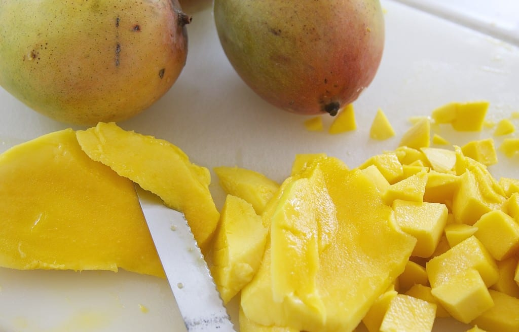 Cutting Mango for Fresh Mango Pineapple Salsa 5