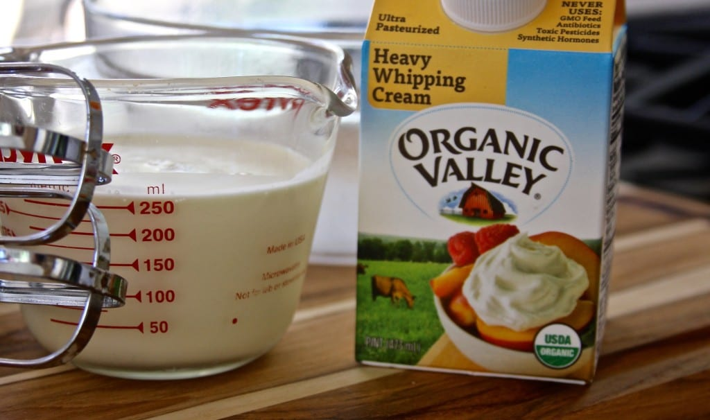 Packaged whipping cream Creamy Banana Chocolate Pudding