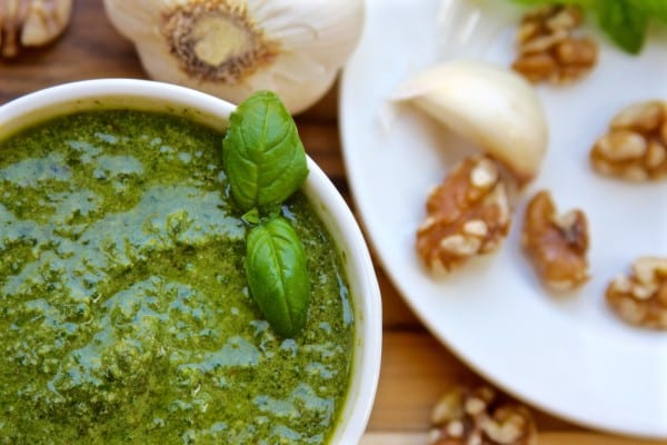 Toasted Walnut Pesto recipe has a twist from the traditional pesto. This is a family favorite.