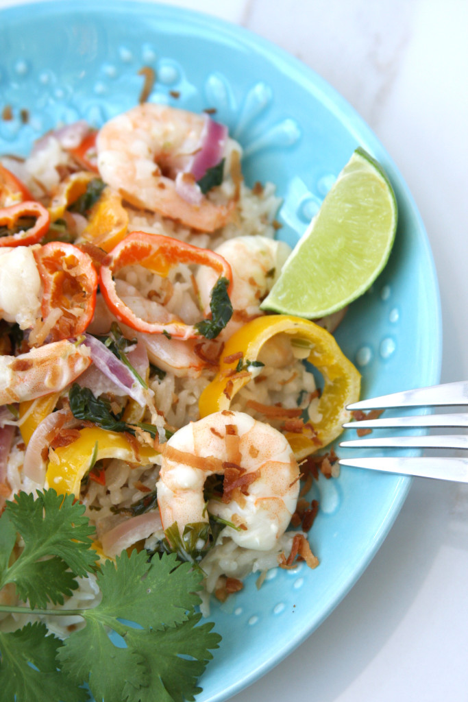 Coconut Lime Tequila Shrimp- Creamy and zesty dish that tastes like a trip to the Caribbean