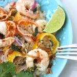 Coconut Lime Tequila Shrimp