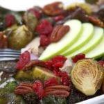 Harvest Turkey Salad- kale, roasted brussels sprouts & orange sherry vinaigrette. Leftover Thanksgiving turkey never tasted so good.