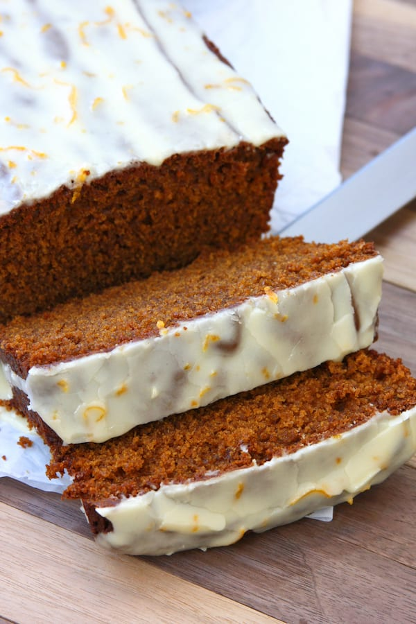 Gingerbread with Orange Citrus Glaze