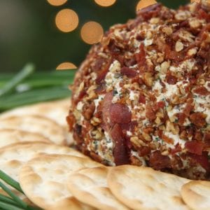 Festive Cheese Ball recipe is an easy way to impress company using real food ingredients. So creamy and savory. This was gone in a matter of minutes.
