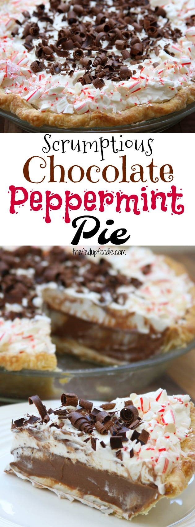 Scrumptious Chocolate Peppermint Pie recipe uses essential oil, extract version available also. 3 layers, peppermint cream cheese, chocolate peppermint and peppermint whipped cream.