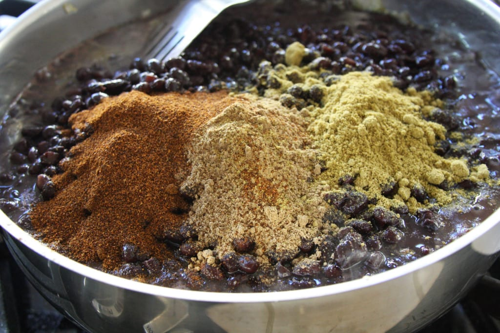 Spices for The Black Bean Burrito