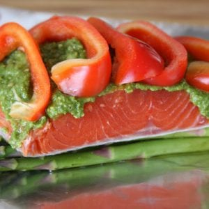 Salmon Pesto Veggie Pocket