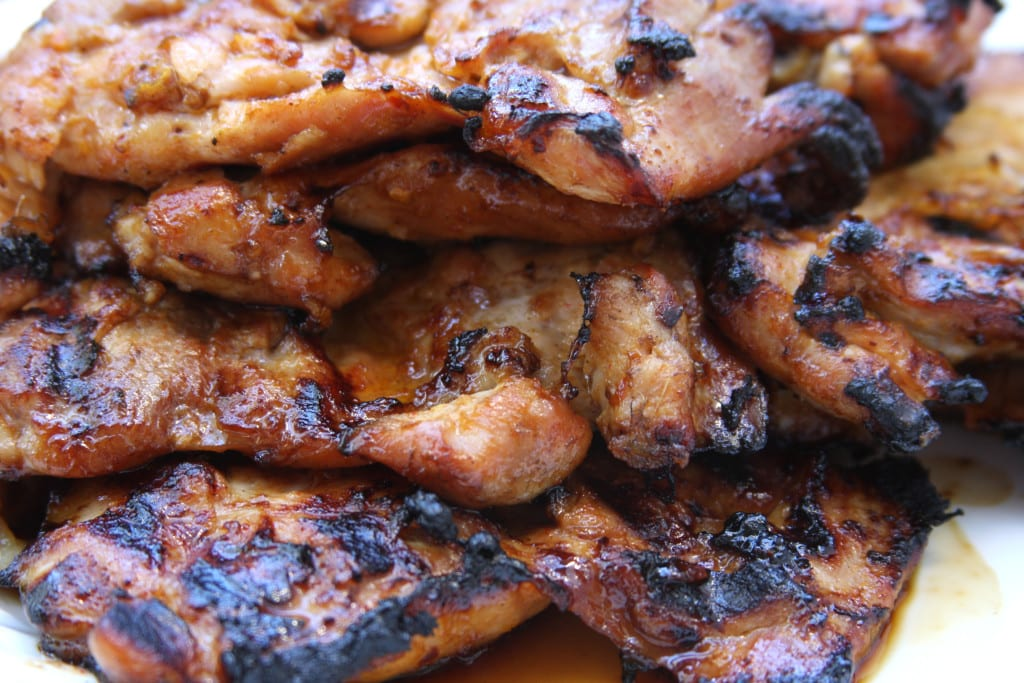 Grilled chicken for Asian Chicken Sriracha Bowl.