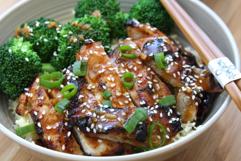 Asian Chicken Sriracha Bowl recipe has the flavors of the Orient with juicy grilled chicken. This has become one of my favorite go to meals.