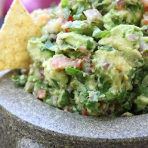 Simple Healthy Guacamole recipe for Carne Asada Fries.