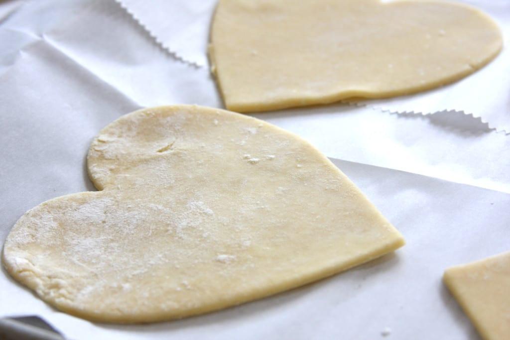 Bottom layer of Cherry Heart Pies.