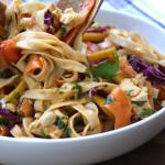 Chicken Peanut Udon Noodle Salad