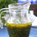 Chimichurri Sauce recipe- fresh flavors of parsley, cilantro, oregano and lemon. Adds life to veggies and is the perfect companion to steak.