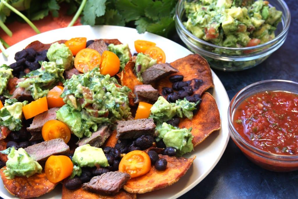 Extremely satisfying Super Healthy Sweet Potato Nachos.
