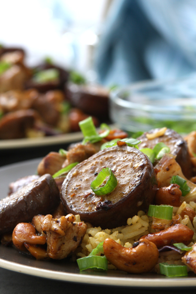 Cashew Eggplant Chicken Stir Fry recipe is bursting with the flavors of the orient while satisfying hungriest appetites.