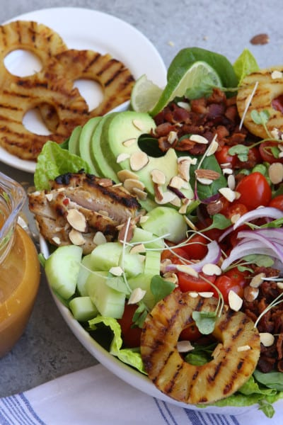 Grilled Pineapple Sesame Chicken Salad recipe is special enough for ...