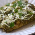 Lightened Up Salsa Verde Chicken Enchiladas