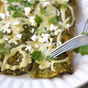 Authentic Mexican Salsa Verde Enchiladas