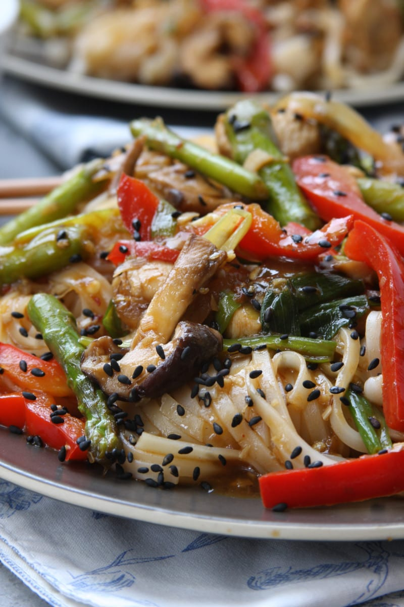 Lemongrass chicken noodle stir fry the fed up foodie lemongrass chicken noodle stir fry recipe is the ultimate healthy comfort food full of veggies forumfinder Choice Image