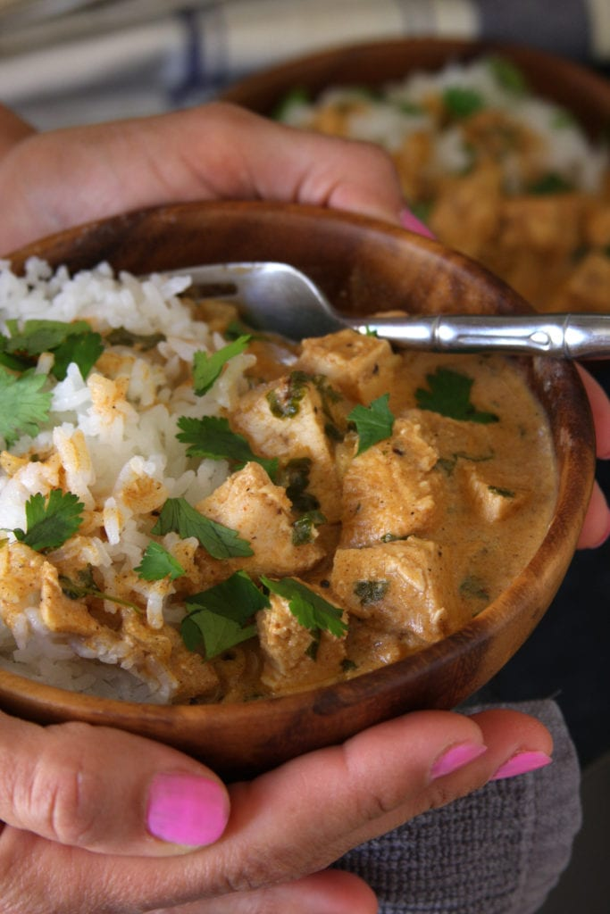 Grilled Chicken Tikka Masala is perfect for serving to family and friends. Spiced yogurt, coconut milk, tender chicken, served over fluffy rice. My husband and I love this dish.