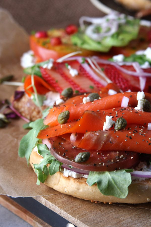 Summer Smoked Salmon Sandwiches recipe has silky, rich lox with endless fixings. These are beautiful, healthy and perfect for a fast dinner on hot summer nights. They also make a great option for brunch that will impress guests.