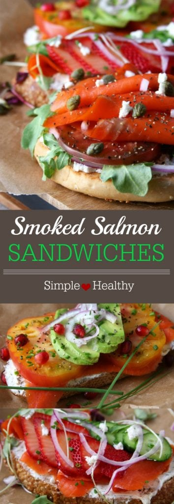 Summer Smoked Salmon Sandwiches - The Fed Up Foodie