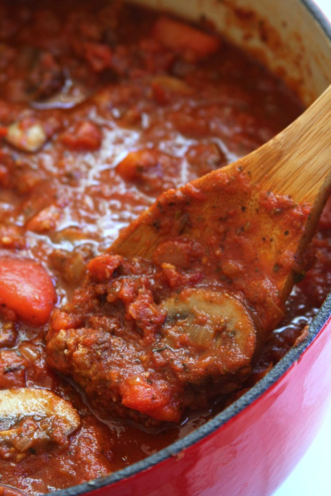 Classic Spaghetti Sauce recipe is the ultimate Italian comfort food. Rustic, flavorful and versatile enough to use for lasagna, ravioli, eggplant parmesan, etc. My family has been making this gorgeous sauce for decades now.