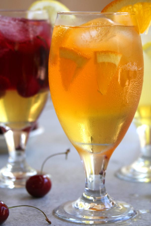 Skinny Limoncello Sparklers recipe creates light, refreshing and antioxidant filled adult beverages. These beautiful fruity drinks are light on calories allowing for all the summer fun without the guilt.