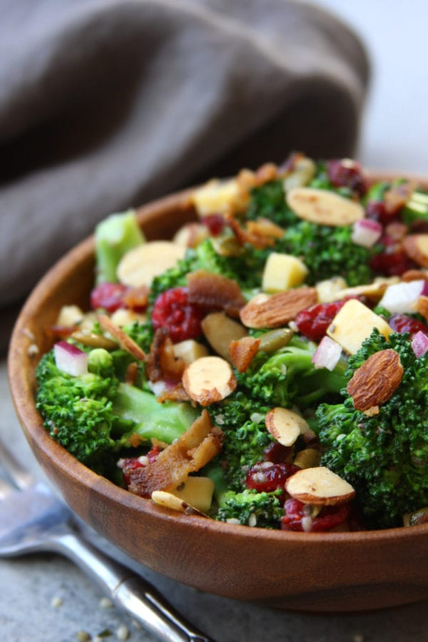 Super Healthy Broccoli Salad The Fed Up Foodie