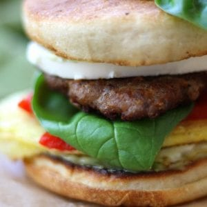 Rise and shine to these Italian Sausage Breakfast Sandwiches recipe with pesto mayo, creamy mozzarella and Homemade Italian Sausage. My family fell in love with the taste. Perfect for weekday mornings but makes a great lunch or dinner also.