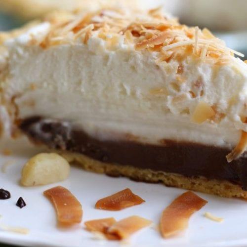 Haupia Pie with Macadamia Crust