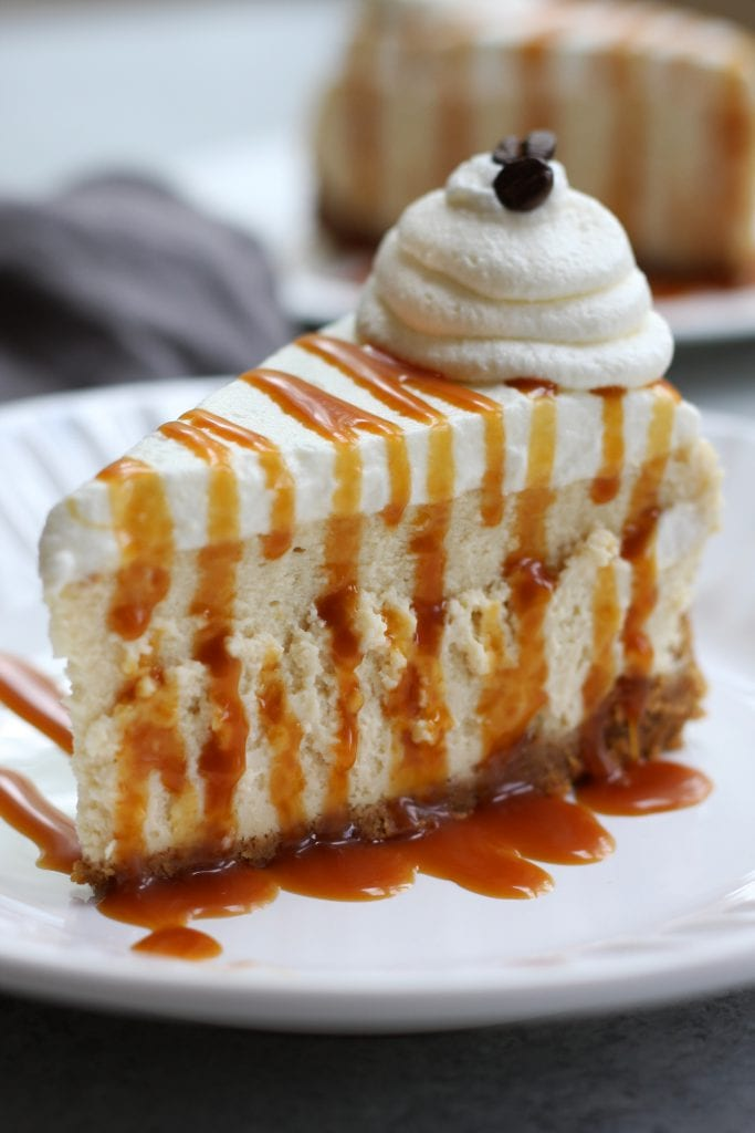 Caramel Macchiato Cheesecake recipe creates a beautifully silky and fluffy cheesecake with a perfect balance of sweet and coffee flavor. This is a great Holiday desserts that coffee lovers will adore.