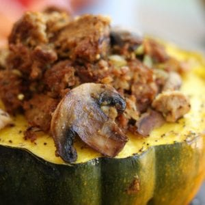 Bread Dressing Stuffed Acorn Squash