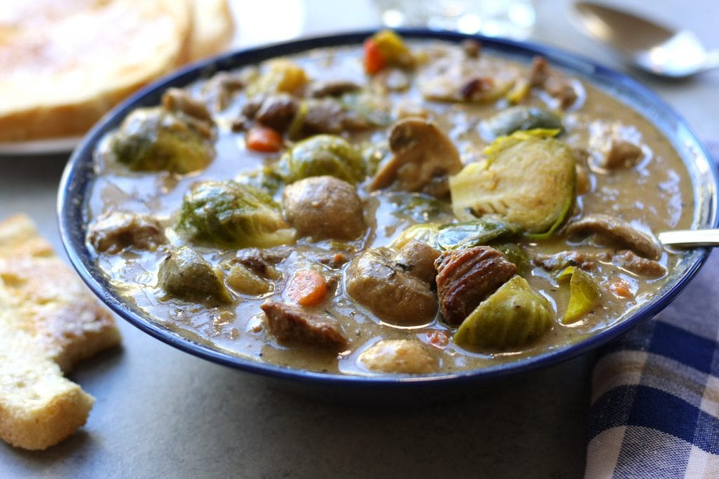 Beef and brussels sprouts stew the fed up foodie beef and brussels sprouts stew is a hearty and healthy winter meal high in fiber forumfinder Gallery