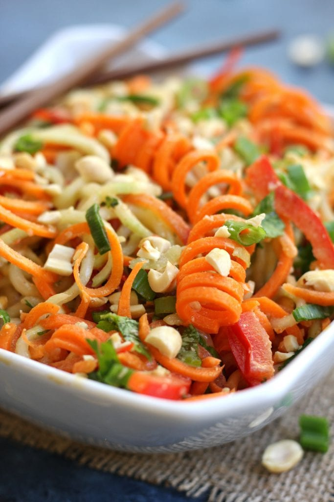 Carrot Cucumber Asian Slaw