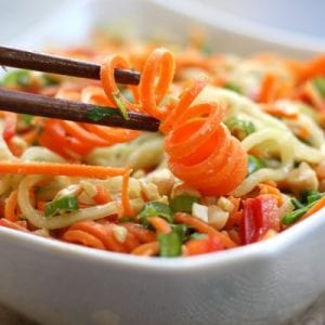 Carrot Cucumber Asian Slaw
